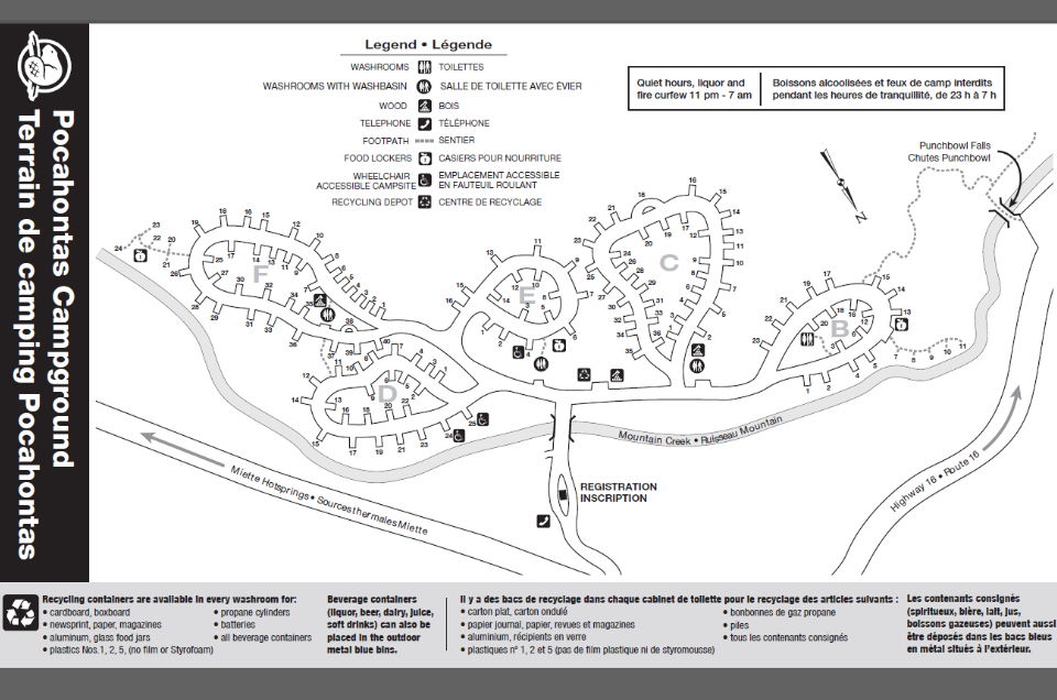 Pocahontas Campground Map