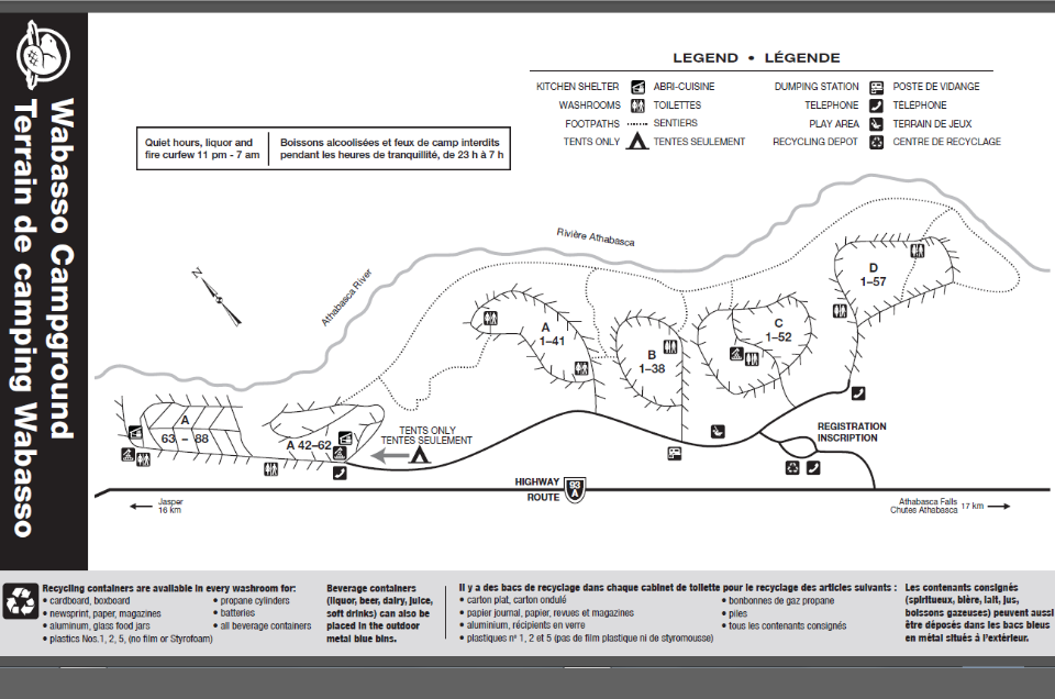 Wabasso Campground Map