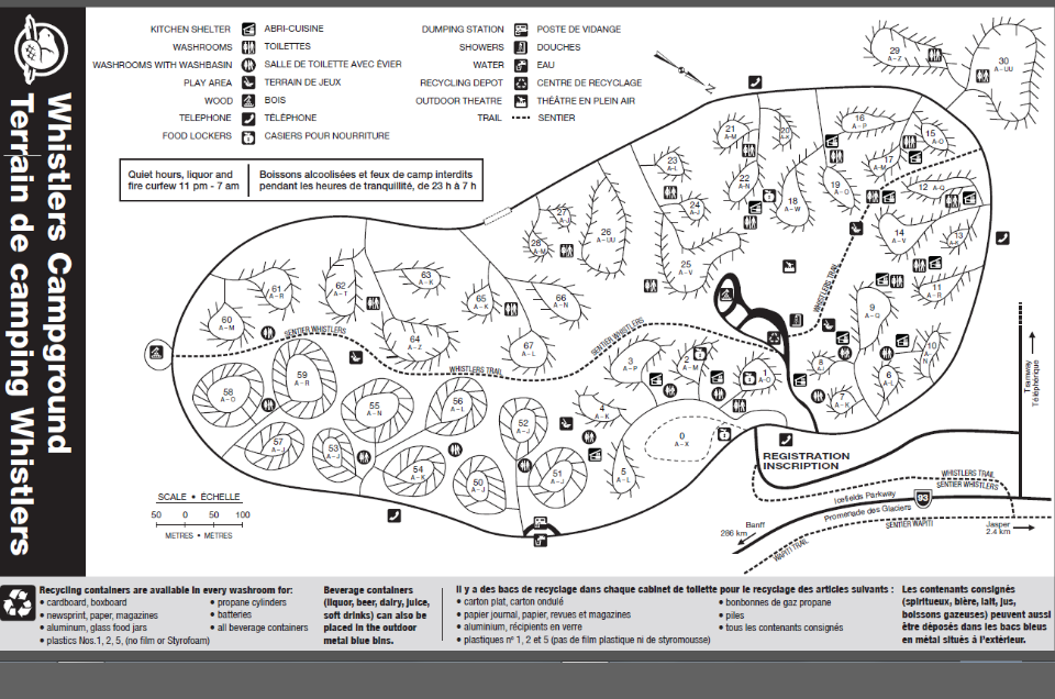 Whistlers Campground Map